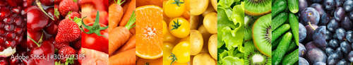 Background of fruits and vegetables Fototapeta