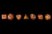 RPG Set Orange Dice For Playin...