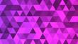 canvas print picture - Modern digital low polygonal pattern texture magenta colour