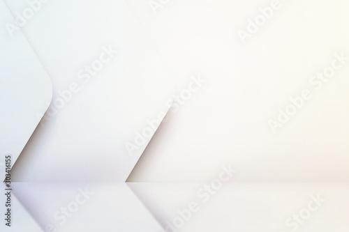 White empty scandinavian room interior with glossy floor Canvas Print