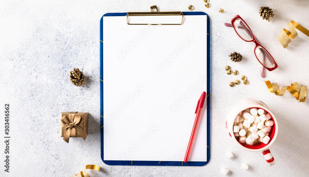 Fototapeta New Year Goals,Plans,Action.Business motivation,inspiration concepts.