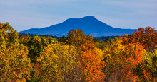 Camel's Hump Mountain In Autumn With Fall Foliage Colors