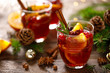 Christmas mulled wine. Traditional festive drink.