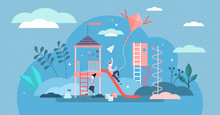 Kid Playground Vector Illustra...