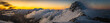 Tatry Zachodnie - halny wiatr, zachód słońca