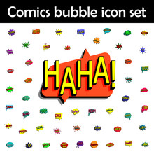 Comic Speech Bubble With Expre...