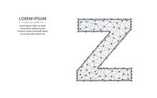 Letter Z Low Poly Design, Alph...