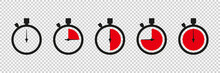 Timers Icon On Transparent Bac...