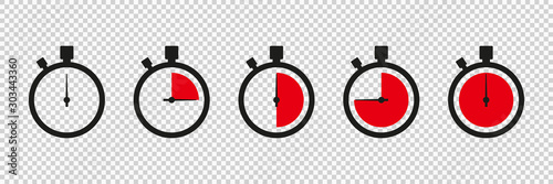 Timers icon on transparent background Obraz na płótnie