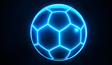 Artistic Glowing Blue Champion...