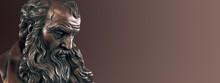 Elder Philosopher Statue, Bronze Material.