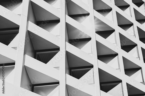Modern Architecture, image on black and white