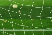 White Net Of Football Goal Wit...