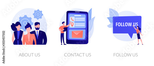 Photo Customer loyalty and technical support web icons set