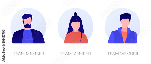 Cuadros en Lienzo User personal profile characters set for social network