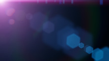 Abstract Purple Lens Flare Effect Overlay Texture With Bokeh Effects And Light Streak With Black Background
