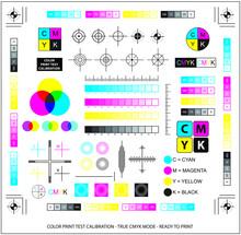 Color Mixing Scheme Or Color Print Test Calibration Concept. Easy To Modify