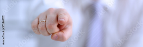 Fotografia Male arm point forefinger to you