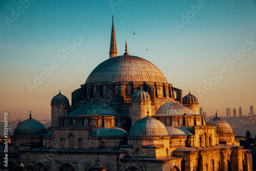 blue mosque in Istanbul Canvas Print