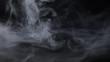 White smoke on a black background, grafic resources