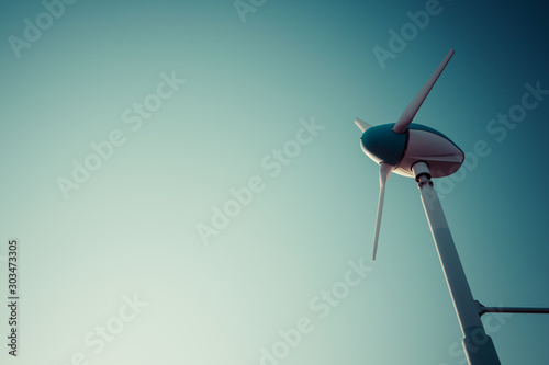 風力発電 風車 小型 横 Canvas Print