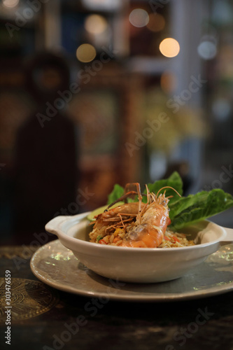Photo  Fried rice with shrimp , Traditional Thai food