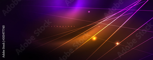 Color light with lines, outer space background, bright rays Wallpaper Mural