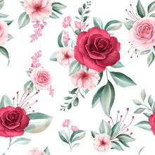 Seamless Pattern Of Colorful W...