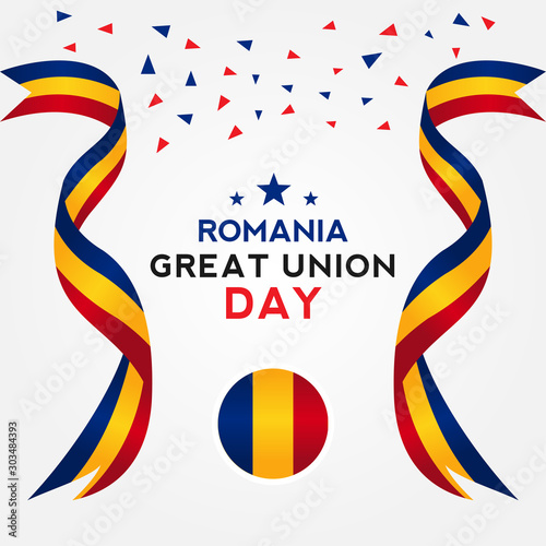 Great Union Romania Day Vector Design Template Wall mural