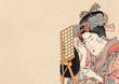 浮世絵「香蝶楼国貞」当世美人合踊師匠