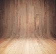 canvas print picture Curved wooden background
