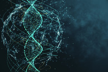 Abstract Green DNA