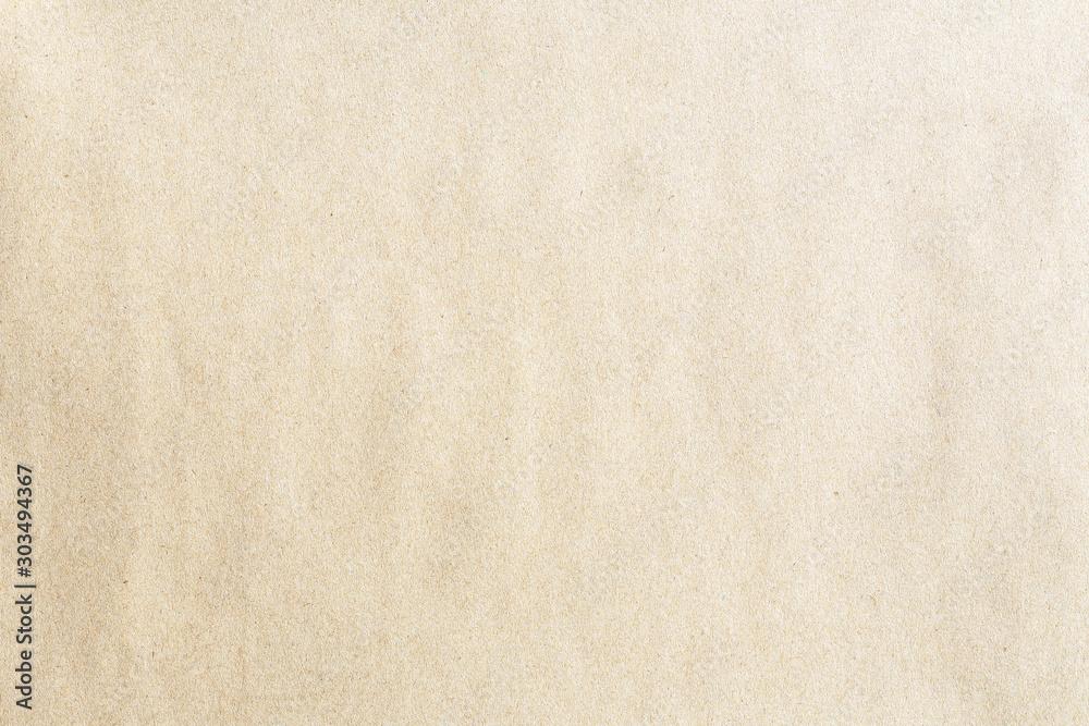 Fototapeta Old brown kraft background paper texture - obraz na płótnie