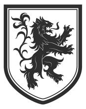 Heraldic Shield With Lion