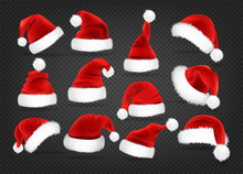 Christmas Santa Claus Caps Set...