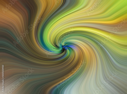 Foto op Aluminium Fractal waves Set of different color swirl twisting towards center. Spiral multi colored Motion blur texture abstract background. Spiral Vortex Graphic modern art. Trendy desktop abstract wallpaper. Creative Wavy