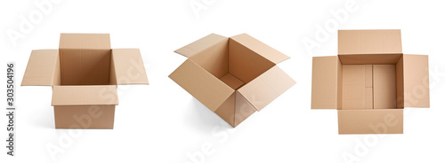 Vászonkép box package delivery cardboard carton
