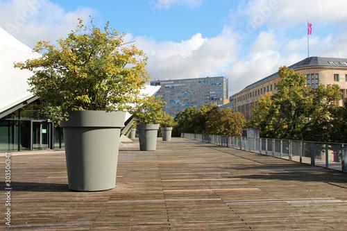 esplanade of the tempodrom in berlin (germany)