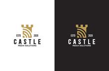 Amazing Castle Logo Design Illustration