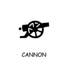 Cannon Flat Vector Icon