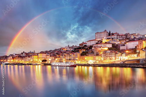 Porto city at sunset, Portugal - 303506732