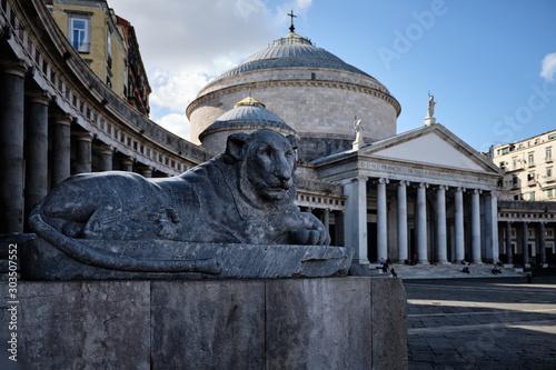 Fototapeta  Foto scattata in Piazza del Plebiscito a Napoli.