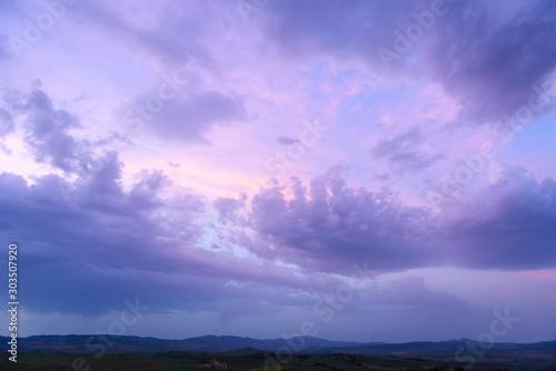 Foto op Plexiglas Purper twilight Clouds sunset time,beauty cloud wallpaper backdrop