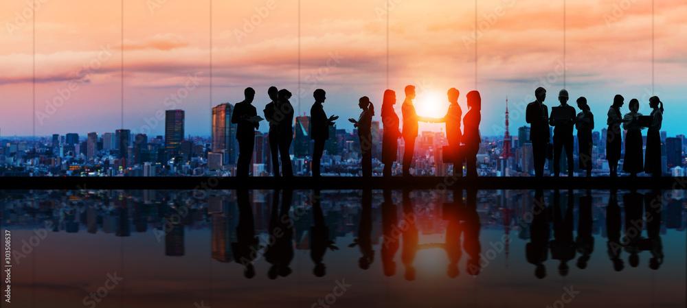 Fototapety, obrazy: ビジネス チームワーク