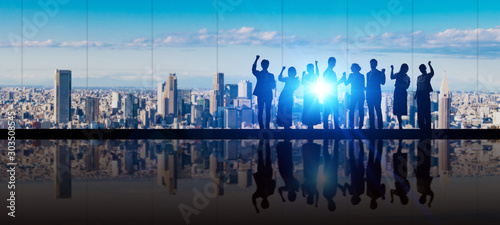 Cuadros en Lienzo  ビジネスグループ チームワーク