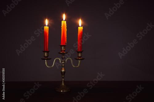 Leinwand Poster Antike Kerzenleuchter