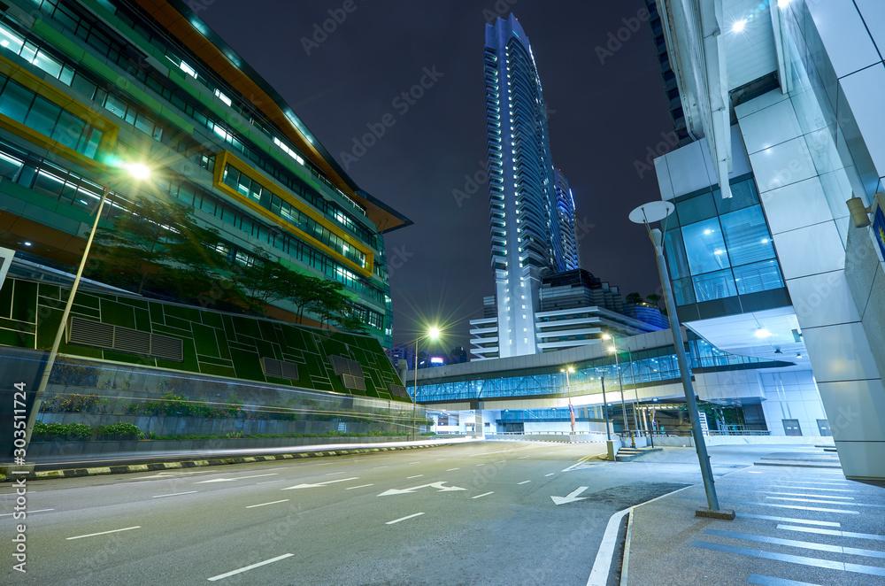 Fototapety, obrazy: Street urban view  in Kuala Lumpur