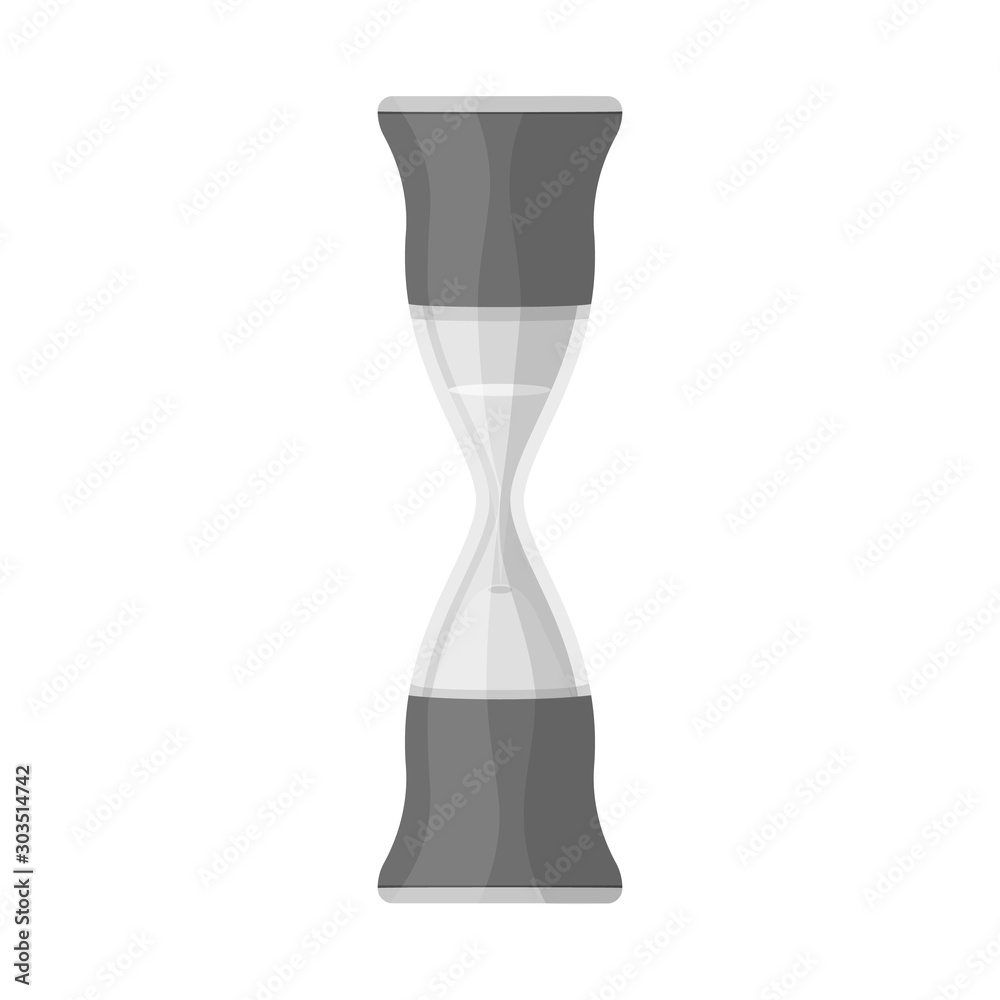 Fototapeta Vector illustration of sandglass and trustworthy icon. Web element of sandglass and clock vector icon for stock.