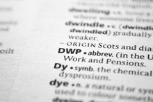Word Or Phrase DWP In A Dictionary.