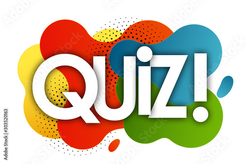 quiz in color bubble background Slika na platnu